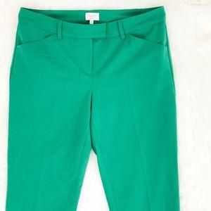 Laundry Shelli Segal Dress Pant Career SZ 6 Green